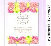 romantic invitation. wedding ... | Shutterstock . vector #587498117
