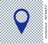 location icon vector on...