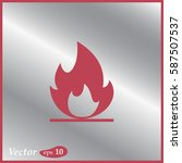 fire icon. web design style. | Shutterstock .eps vector #587507537