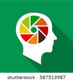 designer brain icon. flat... | Shutterstock .eps vector #587513987