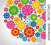 Flowers Spring Design On A...