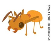ant icon. cartoon illustration...