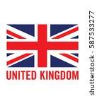 vector united kingdom flag | Shutterstock .eps vector #587533277