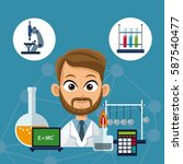 doctor  with medical equipment... | Shutterstock .eps vector #587540477