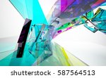 abstract architectural interior ...   Shutterstock . vector #587564513