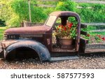 A Wrecked Truck Used For...