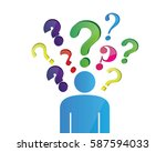 too many question in your head | Shutterstock .eps vector #587594033