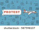 "airplane with banner ""protest""... 