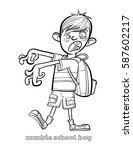 funny zombie coloring page... | Shutterstock .eps vector #587602217