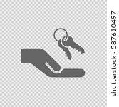 keys in hand vector icon eps 10 ...   Shutterstock .eps vector #587610497