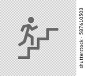 man on stairs going up vector... | Shutterstock .eps vector #587610503