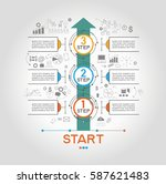 infographic template with steps ... | Shutterstock .eps vector #587621483