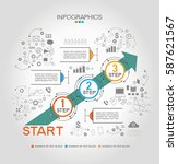 infographic template with steps ... | Shutterstock .eps vector #587621567
