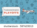 "airplane with banner ""taekwondo ... 