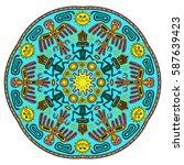 abstract ethnic mandala.... | Shutterstock .eps vector #587639423