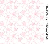 abstract simple flower pattern. ... | Shutterstock .eps vector #587661983