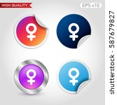 sex icon. button with sex icon. ...   Shutterstock .eps vector #587679827