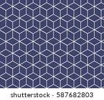 light blue isometric cubes... | Shutterstock .eps vector #587682803