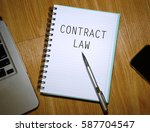 business concept. notebook with ... | Shutterstock . vector #587704547