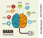 brain storming concept icon | Shutterstock .eps vector #587704907