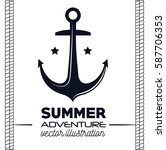 nautical frame with anchor | Shutterstock .eps vector #587706353