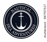 nautical frame with anchor | Shutterstock .eps vector #587707517