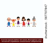 family icon  vector... | Shutterstock .eps vector #587707847
