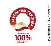 gluten free certified red... | Shutterstock .eps vector #587709647