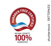 paraben free certified red... | Shutterstock .eps vector #587709653