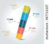 ruler infographic template ... | Shutterstock .eps vector #587712107
