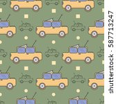 seamless surface pattern with... | Shutterstock .eps vector #587713247