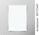 blank a4 paper with math... | Shutterstock .eps vector #587727647