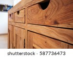 wooden furniture | Shutterstock . vector #587736473