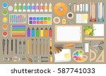 vector set. workspace creator ... | Shutterstock .eps vector #587741033