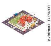 vector isometric illustration... | Shutterstock .eps vector #587757557
