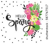 spring background with... | Shutterstock .eps vector #587767517