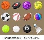 set of sport balls isolated...   Shutterstock .eps vector #587768843