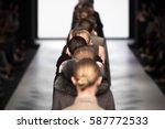 fashion show  a catwalk runway... | Shutterstock . vector #587772533