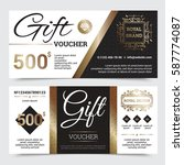 gift coupon royal design with... | Shutterstock .eps vector #587774087
