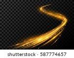 magic gold light effect