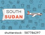 """airplane with banner """"south...   Shutterstock .eps vector #587786297"""