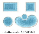 set different forms swimming... | Shutterstock .eps vector #587788373