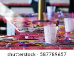 colorful painting arts... | Shutterstock . vector #587789657