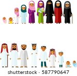 all age group of arab family.... | Shutterstock .eps vector #587790647