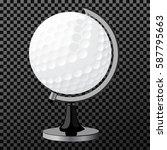 vector golf boll. golf globe... | Shutterstock .eps vector #587795663