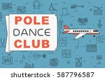 """airplane with banner """"pole...   Shutterstock .eps vector #587796587"""