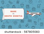 """airplane with banner """"made in...   Shutterstock .eps vector #587805083"""