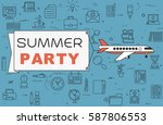 """airplane with banner """"summer...   Shutterstock .eps vector #587806553"""