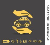 pictograph of car | Shutterstock .eps vector #587811497