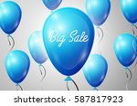 blue balloons with an... | Shutterstock .eps vector #587817923